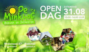 31 augustus 2019 Opendag op De Minkhof.